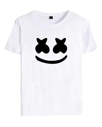 f6d6a9d6d2 ShallGood Unisexe T-Shirts à Manches Courtes DJ Marshmello Fans T-Shirt  Cool Son