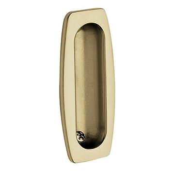 Home Improvement Unlacquered Vintage Brass Top Notch Distributors Inc. Baldwin 0458034 Sliding Door Flush Pull