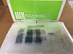 1000 8x10 Self Seal Suffocation Warning Clear Poly Bags 1.5 mil