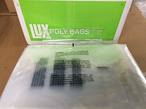 1000 9x12 Self Seal Suffocation Warning Clear Poly Bags 1.5 mil by The Boxery