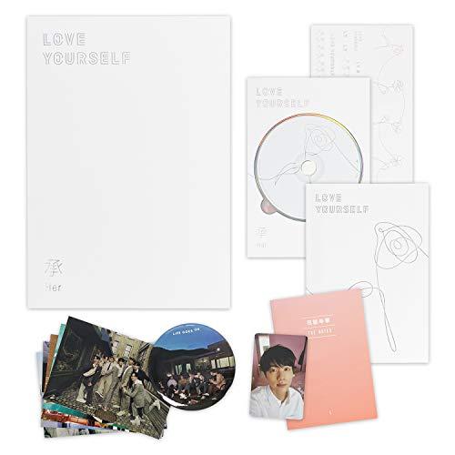 BTS 5th Mini Album – LOVE YOURSELF 轉 HER [ L ver. ] CD + Photobook + Mini Book + Photocard + Sticker Pack + FREE GIFT…