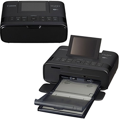 Canon SELPHY CP1300 Wireless Compact Photo Printer (Black) + Canon KP-108IN Color Ink Paper Set (Produces up to 108 of 4 x 6'' prints) + USB Printer Cable + HeroFiber Ultra Gentle Cleaning Cloth by HeroFiber (Image #1)