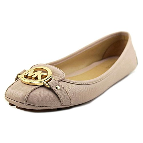 Michael Kors Flat Shoes (MICHAEL Michael Kors Womens Fulton Leather Square Toe Ballet Flats, Soft Pink, 7.0)
