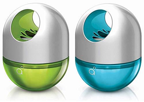 Godrej AER Twist, Car Air Freshener – Cool Surf Blue & Fresh Lush Green (45g)