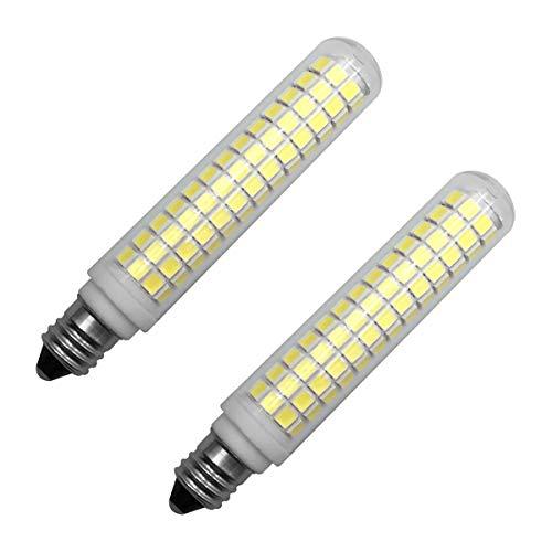 120v T4 Medium Screw - E11 Corn Led Light Bulbs Dimmable,7W(70W-100W Halogen Bulb Equivalent),Daylight White 6500k Mini Candelabra Screw Base,T3/T4 JD AC 110v 120v 130v for Home Decorative Chandelier Ceiling Fan Lamp-2 Pack