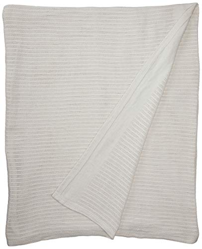 Thermal Weave - Fiesta Thermal Cotton Blanket, King, White