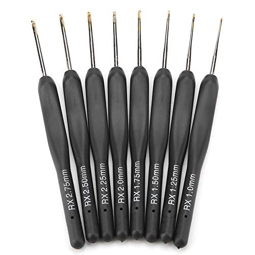 8pcs Crochet Hooks Set Soft Handle Aluminum Hook Knitting Weave DIY Craft Needle Small Size