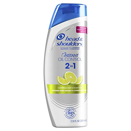 Head and Shoulders Instant Oil Control Anti-Dandruff 2in1 Shampoo & Conditioner, 12.8 fl oz