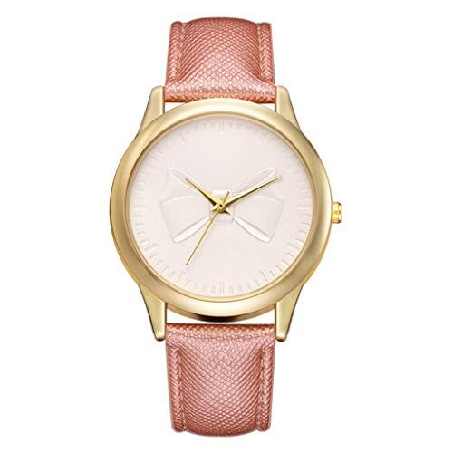 Watch Pilot Diamond - XBKPLO Women Watches Bow Luxury Diamond Casual Quartz Analog Wrist Leather Strap Bracelet Ladies Gold Gift
