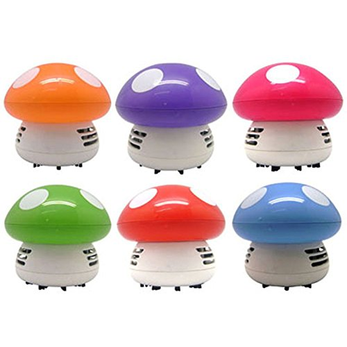 Awakingdemi Vacuum Cleaner,Mushroom Shaped New Portable Corner Desk Vaccum Cleaner Mini Cute Vacuum Cleaner Dust Sweeper