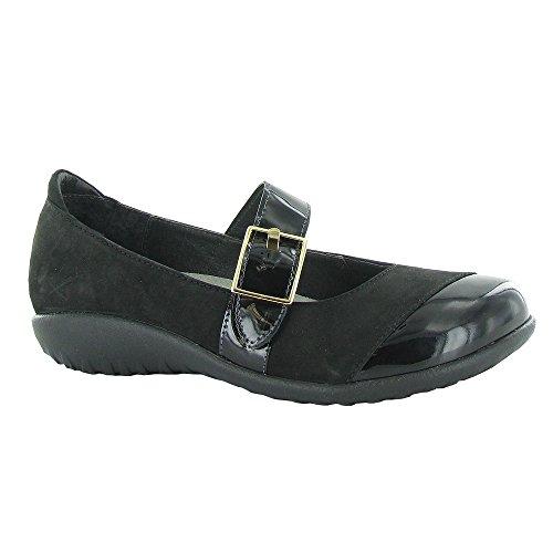 Naot Womens Kihi Chaussures Chaussures Vernis Noir, Velours Noir Nubuck