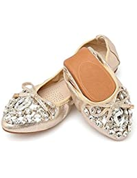 Womens Flats Comfort Ballet/Ballerina Walking Fold-up Shoe for Working/Daily Dress