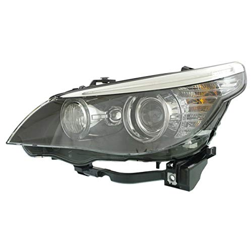 Partomotive For 08-10 BMW 5-Series Front Headlight Headlamp HID/Xenon Head Light Lamp Left Side