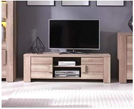 PRICE FACTORY just for you Mueble TV Design Ferrara Color Roble. Ideal para Colocar tu televisión y Decorar tu salón. Dos Puertas, Dos Huecos.: Amazon.es: Hogar