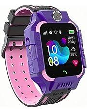 linyingdian Kids Smartwatch, Kids Smart Watch met waterdicht, IP67 LBS SOS, Camera, Gaming, Smartwatch met simkaartsleuf, Gift Boy Girl (3 tot 12 jaar oud) compatibel met iOS / Android (Paars)