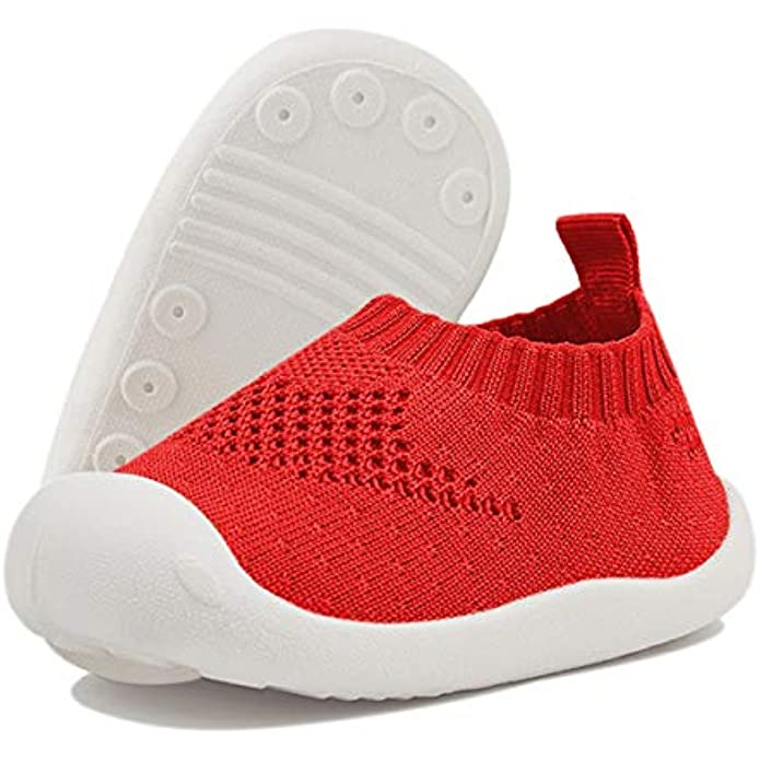 DEBAIJIA Toddler Shoes 1-5T Baby First-Walking Trainers Toddler Infant Boys Girls Soft Kid Cute