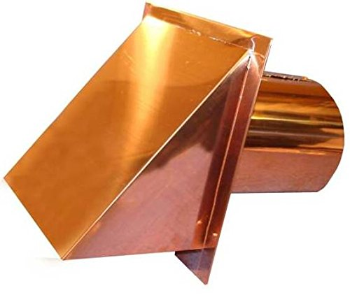 Copper Deluxe Dryer Vent With Weather Seal Damper (Copper)