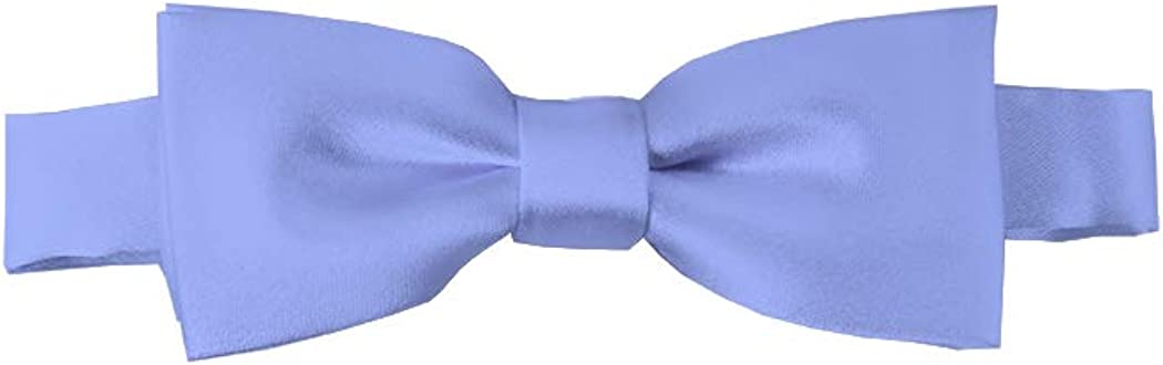 Solid Steel Blue Kid's Pre-Tied Bow Tie