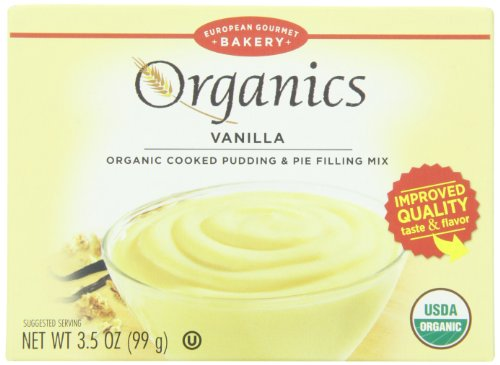 European Gourmet Bakery Organic Pudding Mix, Vanilla, 3.5 Ounce (Pack of 12) (Vanilla Cornstarch Pudding)