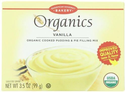 European Gourmet Bakery Organic Pudding Mix, Vanilla, 3.5 Ounce (Pack of 12) ()