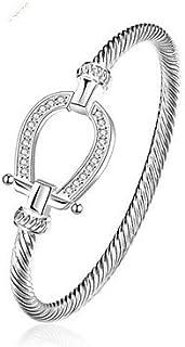 Femme Bracelets Rigides Zircon Mode Plaqué Or Forme Géométrique Bijoux Quotidien