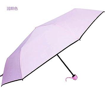 HAN-NMC PARAGUAS paraguas plegable para hombres y mujeres,LUZ ROSA