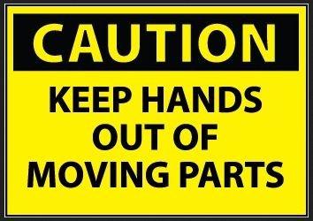 Amazon.com: Precaución Mantener las manos fuera de partes ...