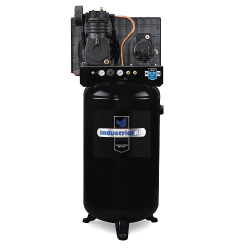 Industrial Air IV5248069 80-Gallon Two Stage Cast Iron Two Cylinder Air Compressor