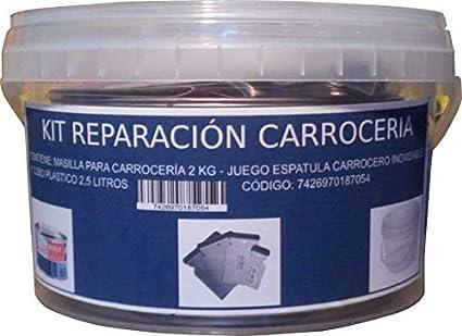 Masilla para CARROCERIA SIN Fibra 350GR Juego ESPATULA CARROCERO PLASTICO 4 Piezas