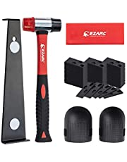 EZARC Laminate Wood Flooring Installation Kit with 60 Spacers, Heavy Duty Pull Bar, Durable Rubber Tapping Block, Double-Faced Mallet, Foam Kneepads