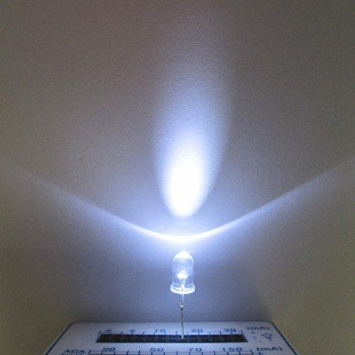 100 x Realplay white light emitting diode LED 5mm white hair white round 7000mcd