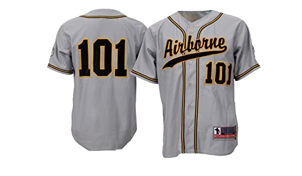2cb6d4e9f Battlefield Collection 101st Airborne Authentic Baseball Jersey X-Large  Gray