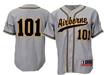 8cb8f8c66 Battlefield Collection 101st Airborne Authentic Baseball Jersey X-Large  Gray