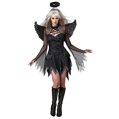 [California Costumes Fallen Angel Dress, Black, X-Large Costume] (Angel Fancy Dress)
