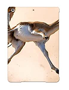 Graceyou Ultra Slim Fit Hard Case Cover Specially Made For Ipad Air- Two Cheetahs Hunting A Gazelle