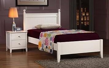 catalina white twin size kids platform bed frame - Twin Size Bed Frame For Kids
