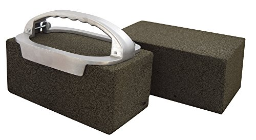 JA Kitchens Grill Brick Holder and Two Grill Bricks - Cleans Griddles and Grills (Brick Grill 3m)