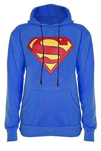 318ee54db0e Womens Ladies Superman Batman Cap Long Sleeves T Shirt Sweatshirt Hoodies  Tops