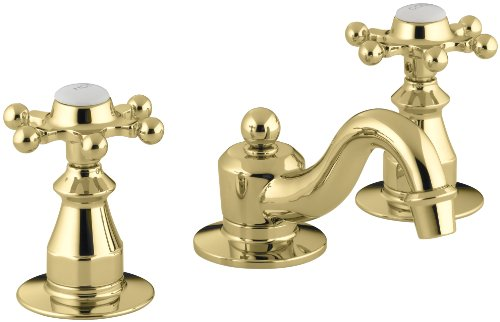 Kohler Antique Widespread Bathroom Faucet Brushed Nickel