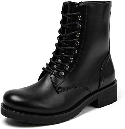 katliu Women's Military Combat Boots Lace Up Ankle Boots