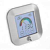 Sherlock Schimmel - Digitales Thermo-Hygrometer zur Raumklimakontrolle, Temperaturmessgerät, Luft-feuchtigkeitsmesser, Detektor - Uhr & Alarmfunktion