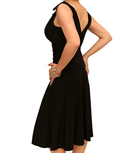 Black Dress Grecian Women's Slinky Blue Banana Style WqXY7qOw