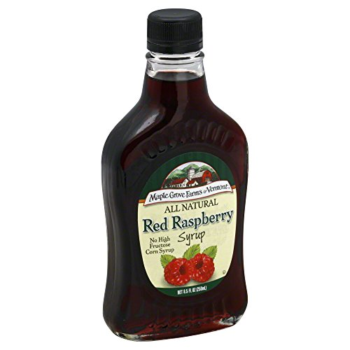 Maple Grove Farms All Natural Red Raspberry Syrup, 8.5-Fluid Ounce (Pack of 6) ()