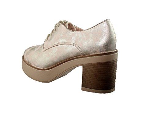 de piel con se sintetica cordones Zapatos de ora dYBqdwO