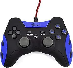 Controle Joystick Com Fio Usb Ps3 Pc Smash Feir 218a Azul