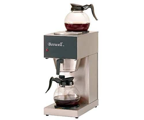 Boswell Commercial Equipment DC-128/DX DC Pour Over Brewer, Model-1 Lower, 1 Upper Warmer, 14