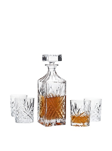 Dublin Whiskey Bar Set Decanter 4 DOF Glass
