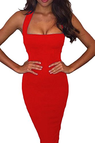 red halter dress - 3