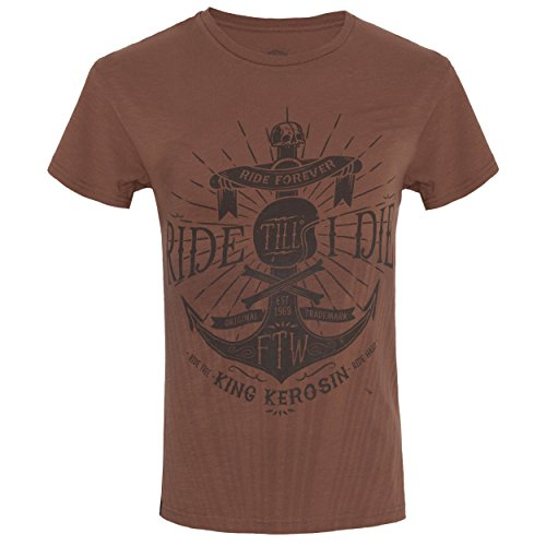 King Kerosin T-Shirt Ride Till I Die Watercolour Brown