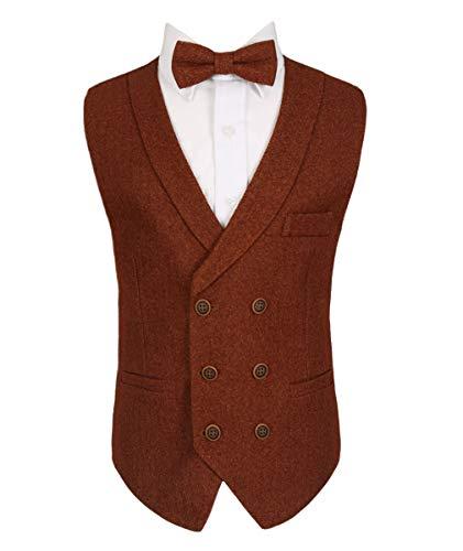Brown Sirri Bowtie Waistcoat Blazer Ragazzo Set Cinnamon PBqPrt